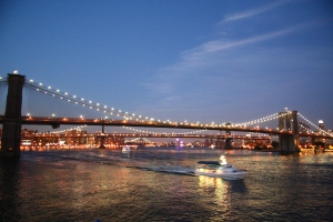 Brooklyn brigde after sunset