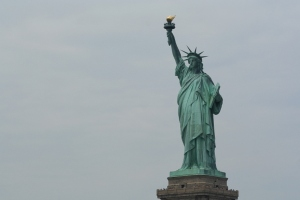 Statue of Liberty. Being a statue she keeps alive liberty!