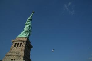 Presenting statue gigantic