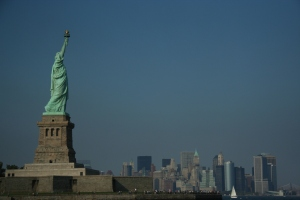 New york and Statue of Liberty