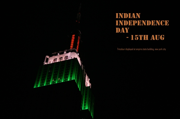 Tricolour displayed on Empire State Building - Indian Independence Day