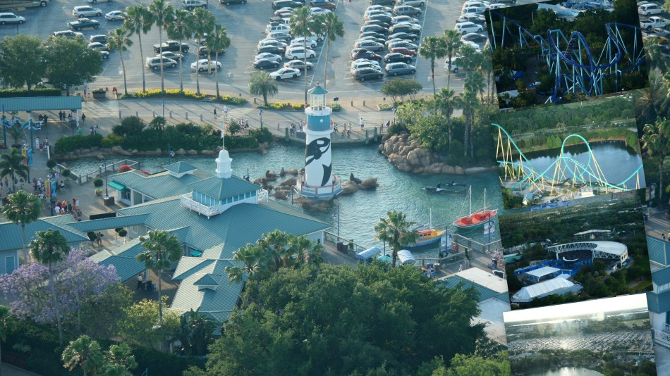 Ariel view of Sea World Entrance